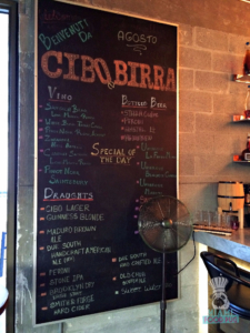 Cibo Wine Bar's Birra Bar Offerings
