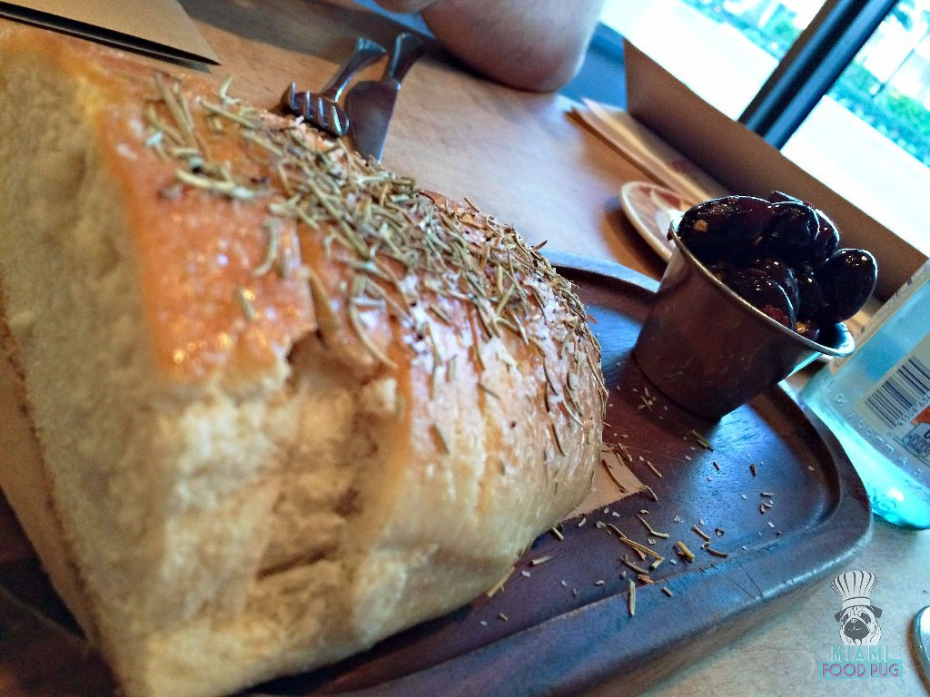 Cibo Wine Bar's Bread Service with Housemade Bread and Spicy Kalamata Olives