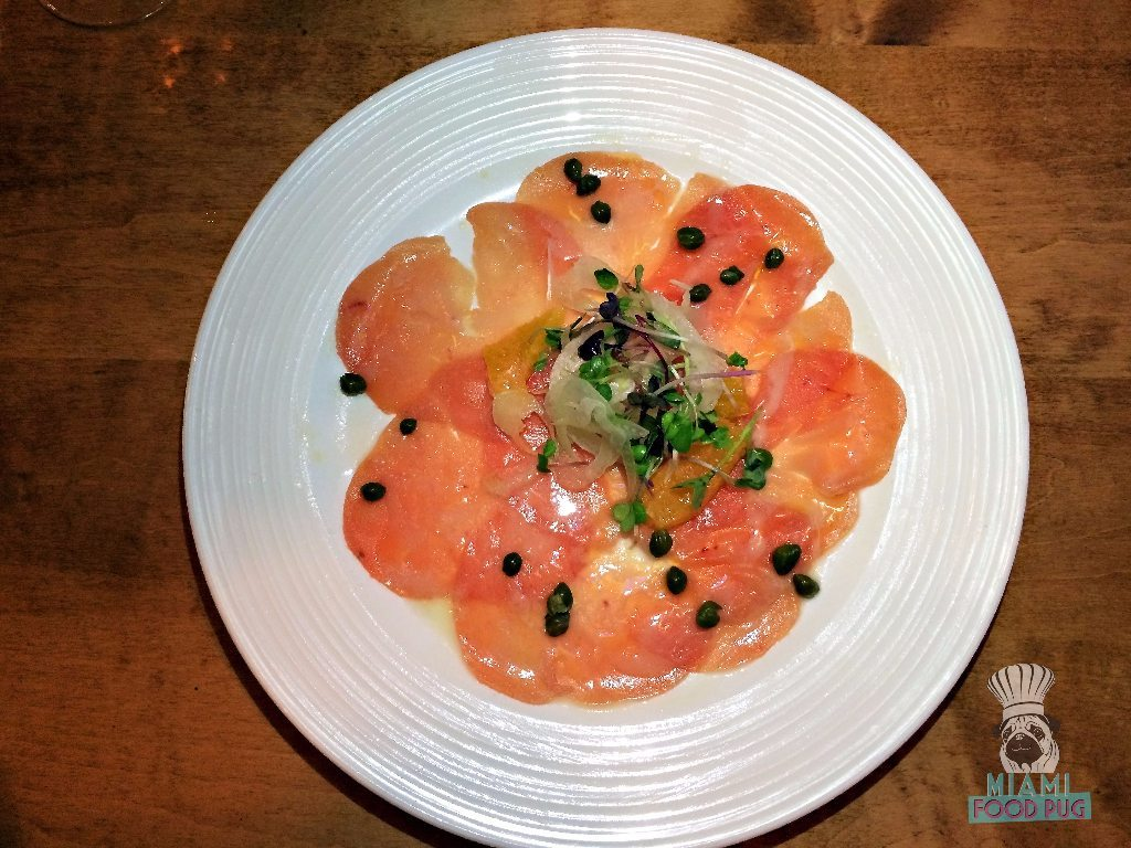Cibo Wine Bar's Tuna Carpaccio