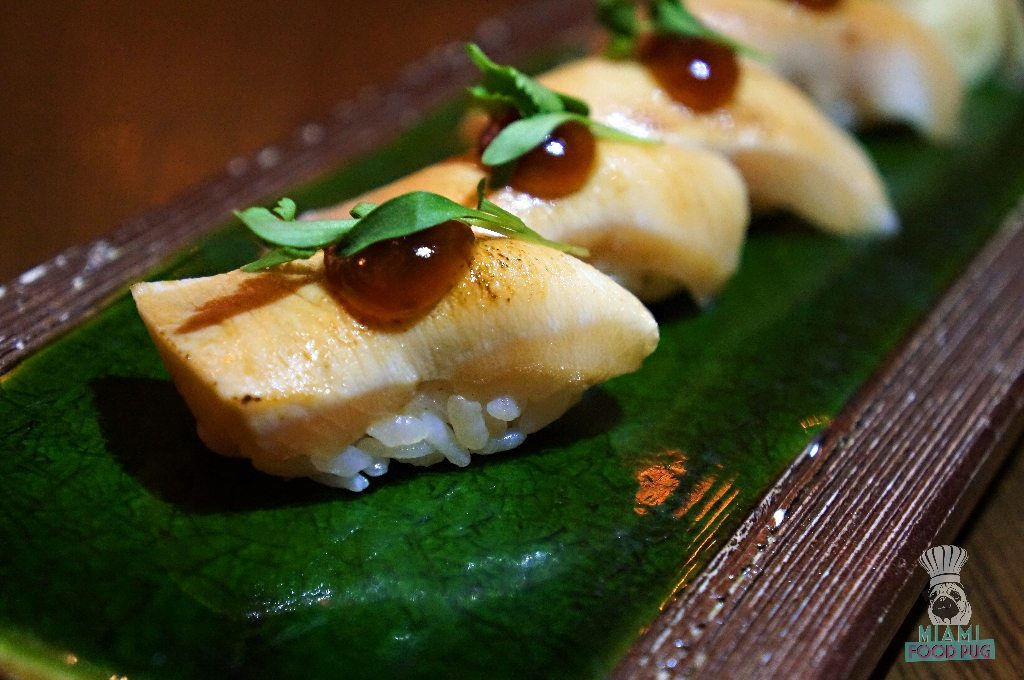 Kuro's Seared Hamachi Nigiri