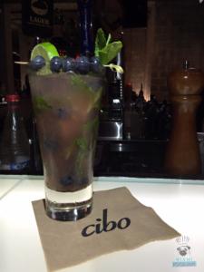 Cibo's Blueberry Grappa Mojito