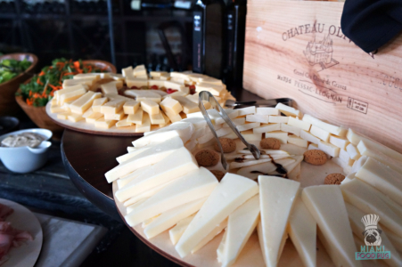 Cheeses at Tamarina's Brunch