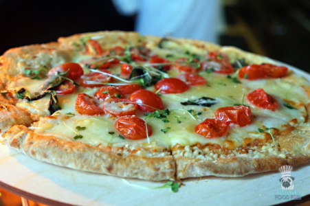 Margherita Pizza at Tamarina's Brunch