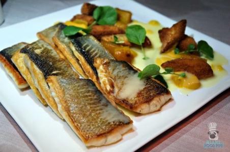 Azul's Branzino With Kabocha Squash and Eggplant Katsu