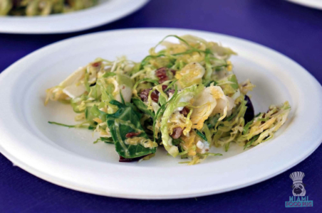 SOBEWFF Grand Tasting Brussels Sprouts Salad from Proof Pizza and Pasta